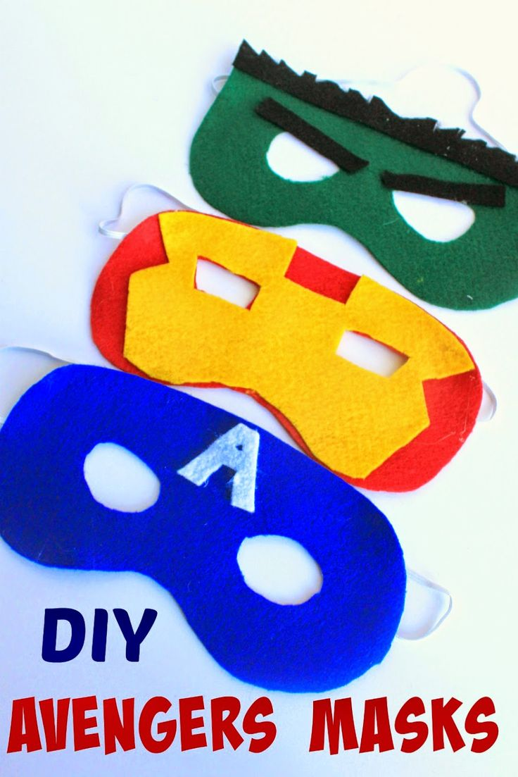 Does your child want to dress up like the Hulk, Captain America or Iron Man? THese DIY Avengers Masks with patterns are super easy to make! Perfect Avengers craft! #AvengersUnite #ad