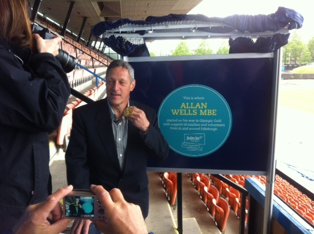 Join In went to the Meadowbank Stadium to unveil the latest Blue Plaque, which was awarded to Olympic Gold Medallist Allan Wells, marking Edinburgh as his starting point in athletics. Find out more about the plaques and the Join In weekend here: http://bit.ly/joininuk