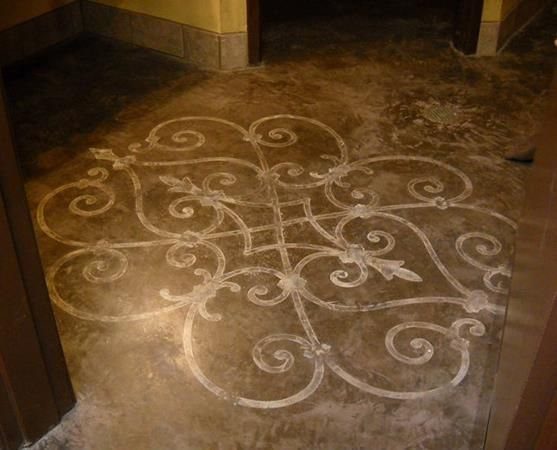 Pin by royal design studio stencils on stenciled painted for Painted vinyl floor ideas