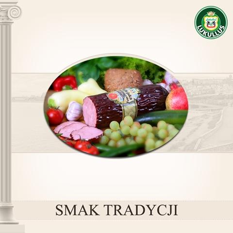 Kiełbasa Krakowska podsuszana - ten smak znamy wszyscy! Lukullus osobiście zadbał o doskonałe doprawienie i wspaniały aromat!