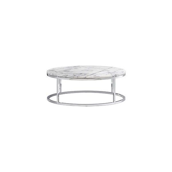 smart round marble top coffee table - Round Marble Top Coffee Table ($299) ❤ liked on Polyvore featuring home, furniture, tables, accent tables, cb2, coffee table, white marble table, chrome table, cb2 accent table and white marble coffee table