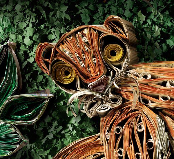 Paper rainforest by Andrés Freile, via Behance