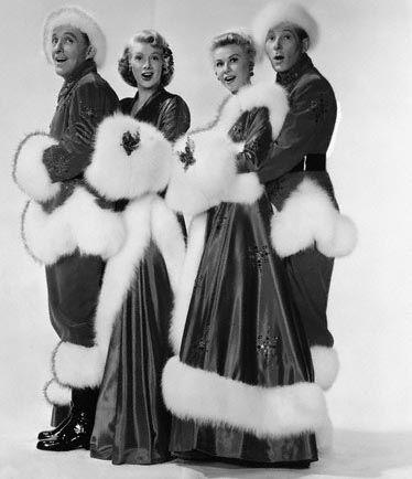 "Bing Crosby, Rosemary Clooney, Vera Ellen, and Danny Kaye in ""White Christmas"".  Love this!"