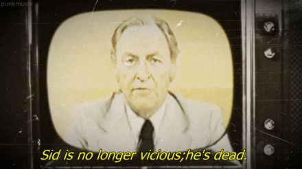 The BBC News announce Sid Vicious' death,1979.