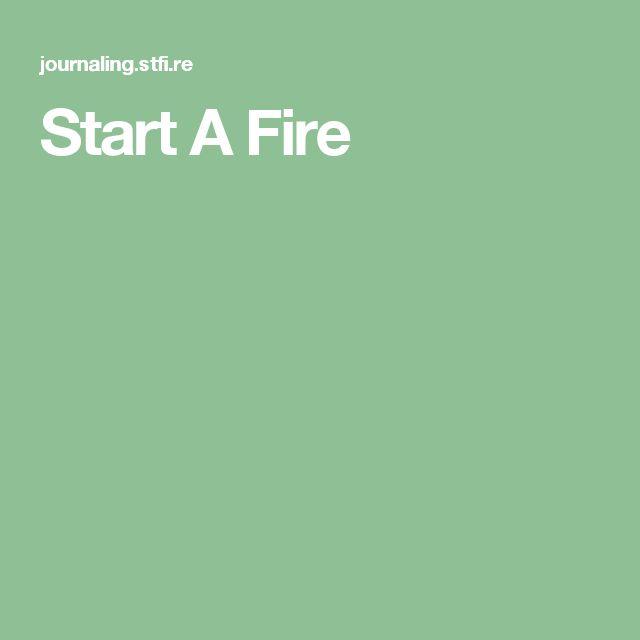 Start A Fire
