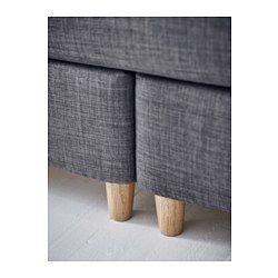 IKEA - DUNVIK, Lit/sommier, 140x200 cm, Hokkåsen mi-ferme/Tustna gris foncé, Brynilen, , Un lit de style classique avec une tête de lit entièrement rembourrée. Peut être placé au milieu de la chambre. En cas de taches, la couverture est amovible et lavable en machine.Le garnissage en laine et en latex présente une bonne capacité d'absorption de la pression vous offrant une possibilité de détente optimale et une surface d'accueil plus douce.Une épaisseur souple de mini ressorts…