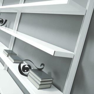 libreria a parete big marc sadler design alluminio acciaio compasso d'oro