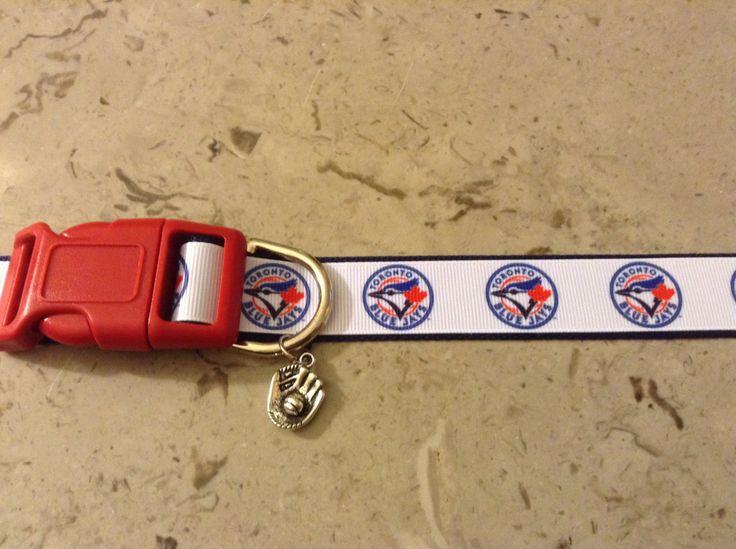 Toronto Blue Jays MLB Team Adjustable dog collar with a Baseball charm by Sewwho on Etsy