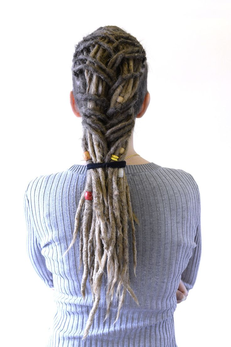 This is my client Pernilla, I started her dreadlocks over 5 years ago and about every three months she comes in for some dreadlovin all the way from Borlänge. I love playing with her hair and making fun updos.