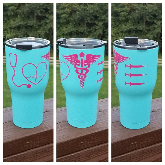 This listing is for one Medical LOVE themed authentic 20 oz. or 30 oz. RTIC tumbler, or 12 oz. RTIC lowball. Perfect for your favorite nurse, PA or doctor! What a great gift idea!! Decal is made with durable outdoor vinyl. Please contact me if you would like your tumbler
