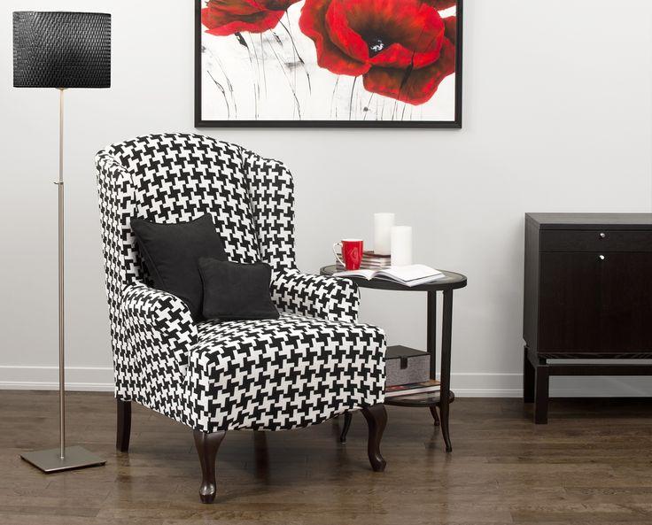 Hudson Black Wing Chair Slipcover
