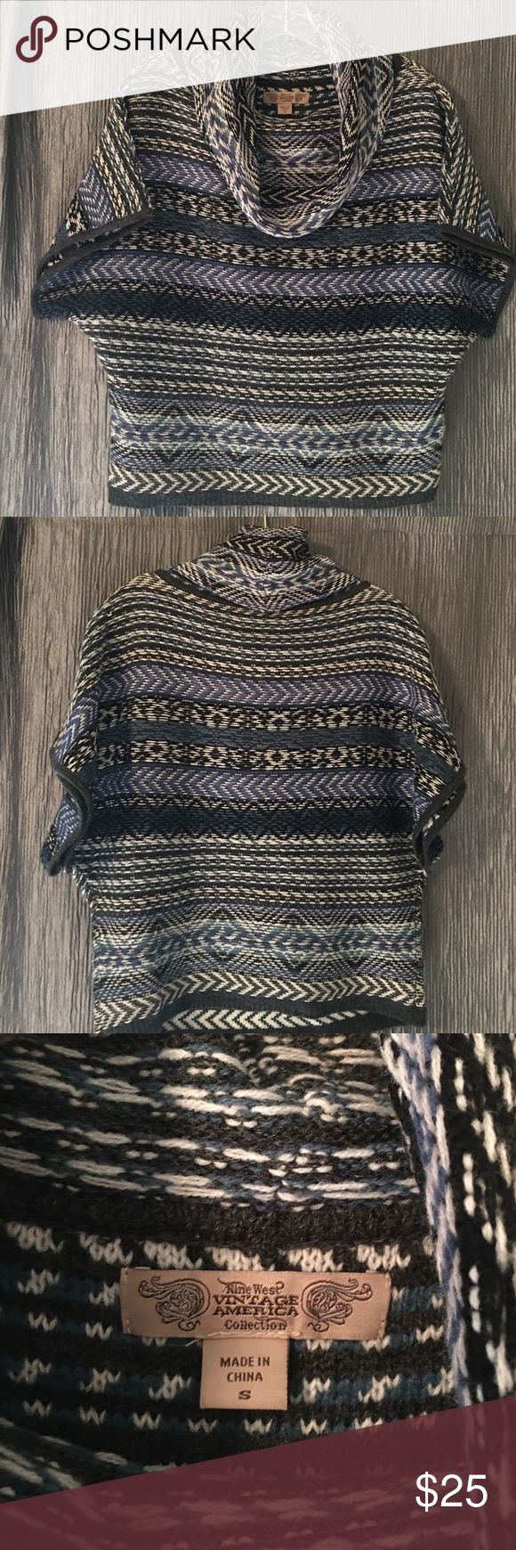 Nine West Vintage America Collection sweater Great Aztec sweater. You can dress up for work or dress down with a great pair of jeans. Has cowl neck. Nine West Sweaters Cowl & Turtlenecks