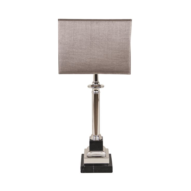 The Krista Marble Effect Nickel Table Lamp by RV Astley boasts a frame finish in chrome/nickel, with a silver/grey light shade. Part of the Krista range, this beautiful floor lamp is the perfect compliment to a minimalist living room.