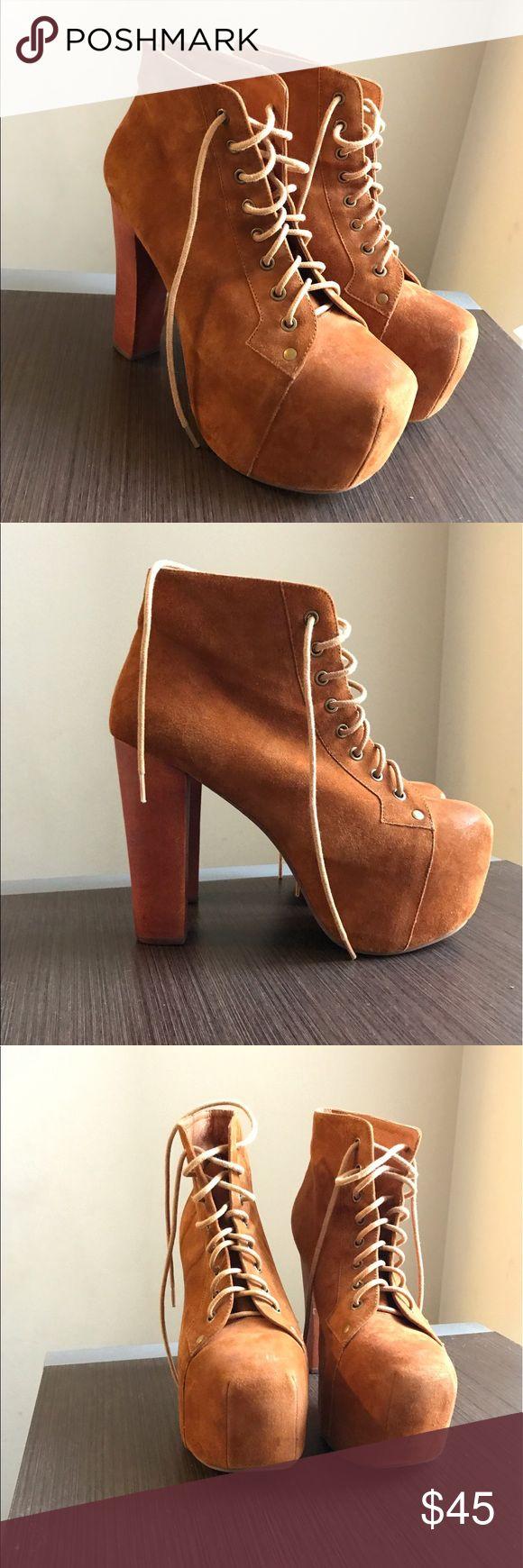 Jeffrey Campbell Lita Boot Camel suede Jeffrey Campbell Litas! Only worn a few times so