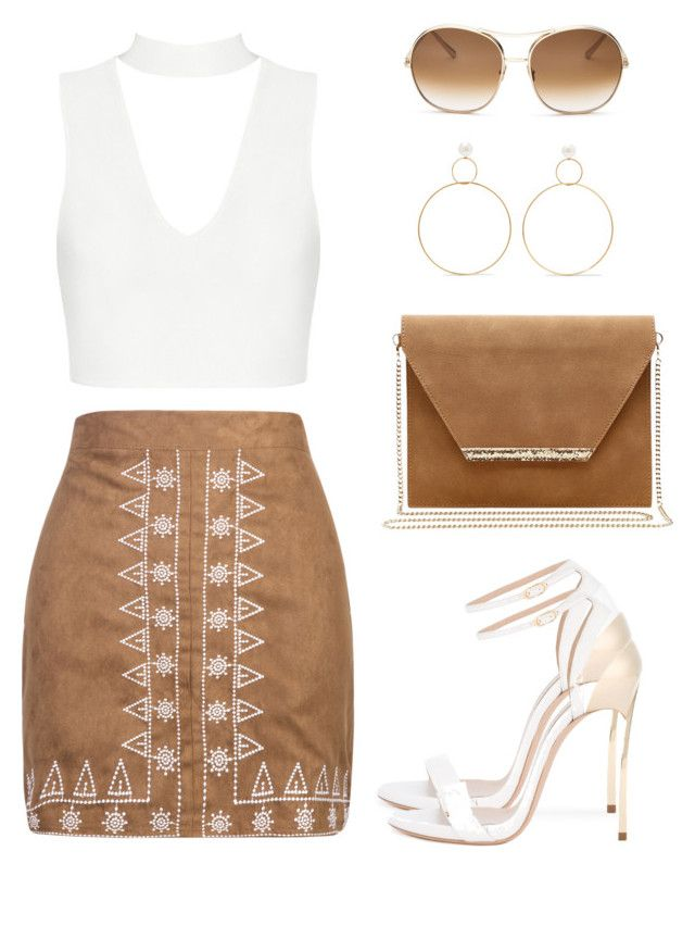 """Untitled #1413"" by gallant81 ❤ liked on Polyvore featuring WithChic, Casadei, Mambo, Chloé and Natasha Schweitzer"
