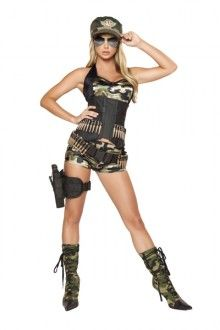 Best 25 army costume ideas on pinterest army halloween costumes 5 pc army babe costume solutioingenieria Gallery