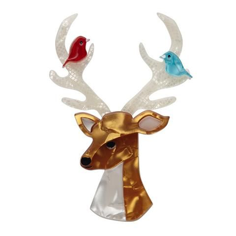 """Erstwilder Collectable Kind-Hearted Keresh Brooch. """"No woodland creature can equal the beauty of the graceful Keresh. Seriously. Not even a baby squirrel wearing a top-hat."""""""