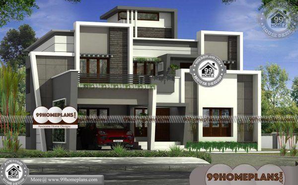 Kerala Modern Home Designs Two Floor Flat Roof Contemporary Plans Modern House Design Modern House House Design