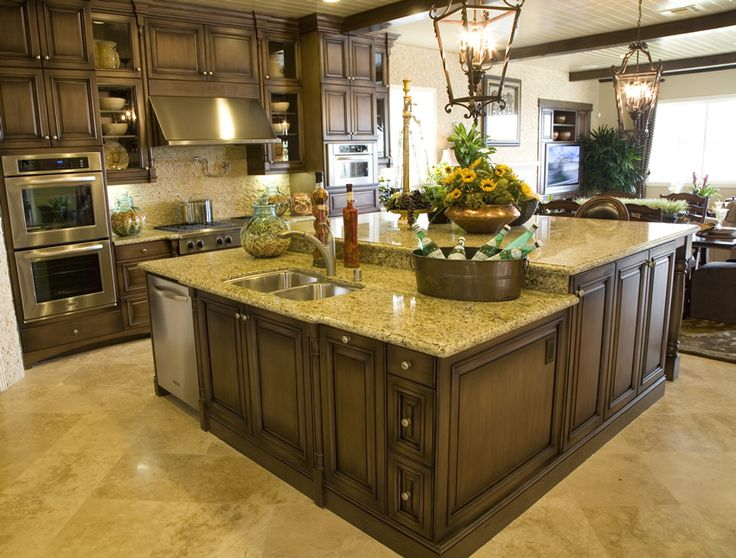77 Custom Kitchen Island Ideas (Beautiful Designs) Somebody had their s__t together when they designed this island!!! I love that sink & dishwasher are on the end and that the work surface on the upper level is separate, it is absolutely awesome!!!