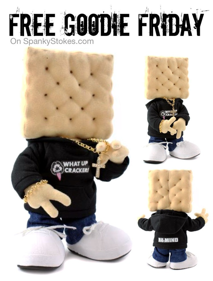 "Free Goodie Friday 06/08/12 on SpankyStokes.com - Win a hand-made ""Cracker"" plush from Re:Mind!!!: Awesome Giveaways, Hong Kong, Super Stokes, Plush Figures, Goodies Friday, Parties People, Hands Mad Crackers, Split Time, Free Goodies"