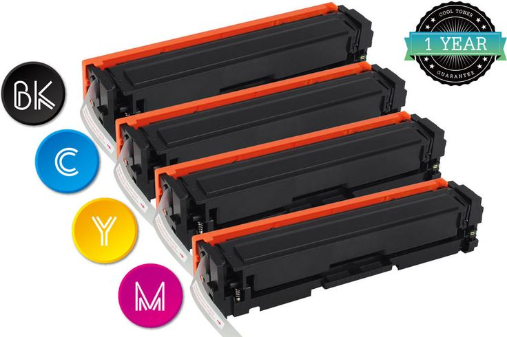 4pk 201X Toner Set CF400X CF401X CF402X CF403X KCMY Compatible for HP M252 M277 #CoolToner