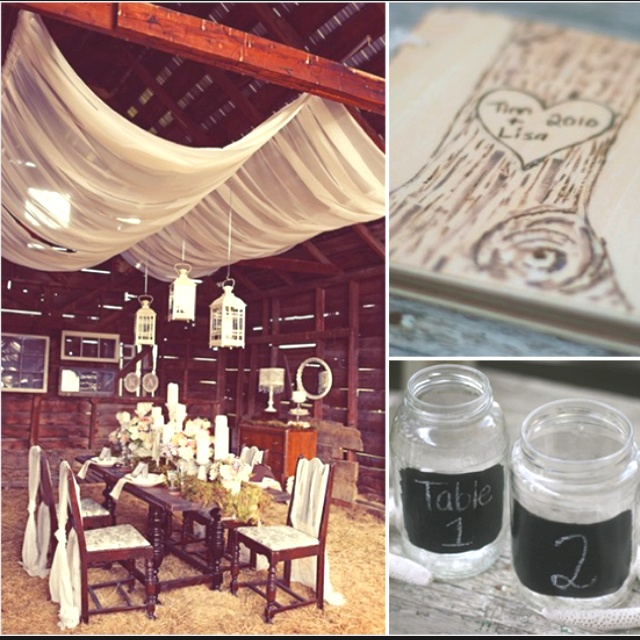 Country wedding ideasChalkboards Painting, Wedding Ideas, Barns Receptions, Country Weddings, Ceilings, Fabrics, Ideas Dreams Wedding'S 3, Ideas Dreams Wedding 3, Country Ideas