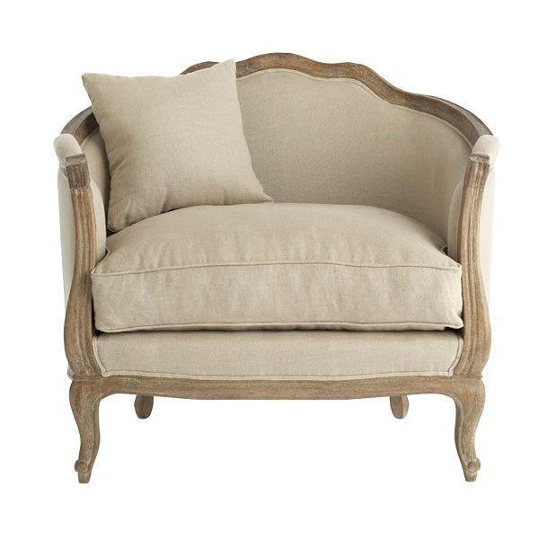 Linen european furniture chair natural linen wisteria for European furniture