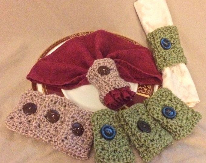 Anello di tovagliolo di Crochet, portatovaglioli, Portatovagliolo, tovagliolo anello idee