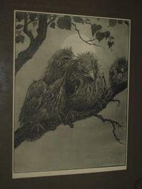 Henri Verstijnen (1882-1940) : Litho – Jonge vogels – Ingelijst- ca 1930 € 1,00 nu bieden! -