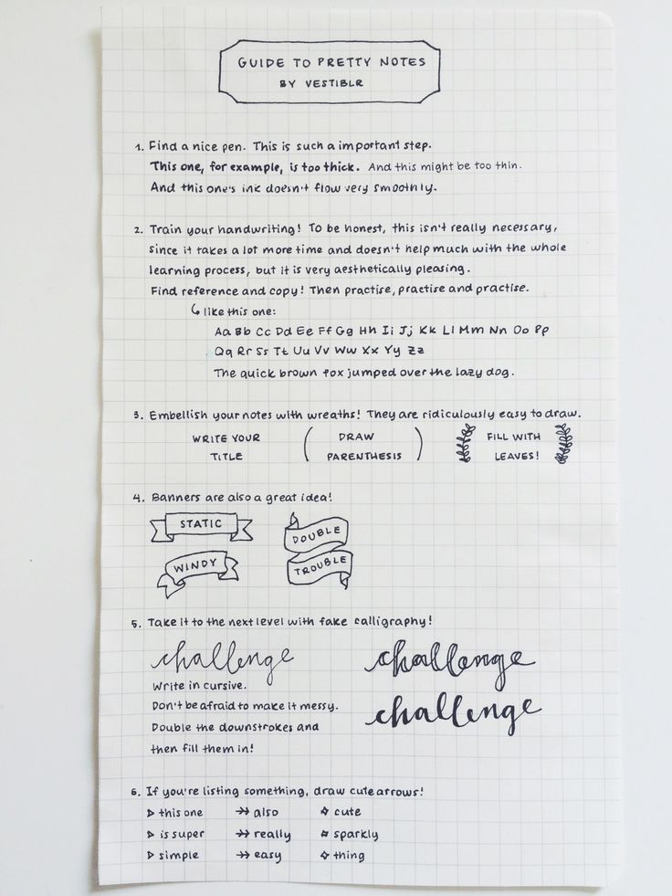 vestiblr:  I always get messages of people asking for handwriting reference and advice for cute notes, so I decided to make a nice post with some tips!  a post of the pens i use (here i was using the 0.1 unipin fineliner) handwriting inspo: laevateinx, studysthetics, yourstudygeek, stuhdys,aspiringstudyblr, nehrdist, intelectum   better handwriting for adults pdf how to get neater handwriting ribbon banner tutorial handlettering tutorial for headers/titles