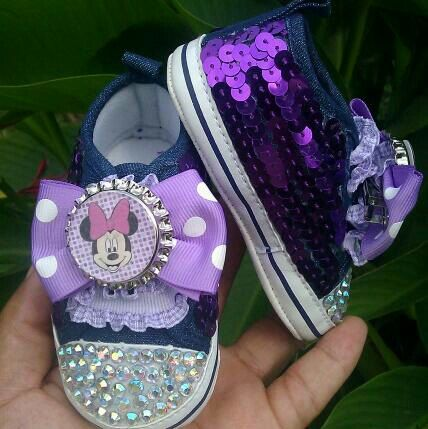 Minnie Mouse Nursery | ... to Sequin Minnie Mouse Rhinestone Glam Baby Crib Shoes-Purple on Etsy
