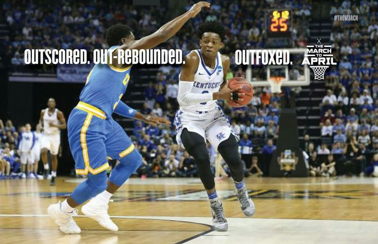 UCLA got Outfoxed🐺💙....The game may have been on CBS, but from start to finish, everyone's eyes were on Fox.   Congratulations to De'Aaron Fox, Coach Cal and Big Blue Nation.   #TheMarchContinues Kentucky Crazies Kentucky Wildcats Kentucky Wildcats Men's Basketball Kentucky Big Blue Nation Kentucky Basketball University of kentucky basketball Kentucky Wildcats on 247Sports Wildcat Country - Big Blue Nation Kentucky Big Blue Nation #BBN