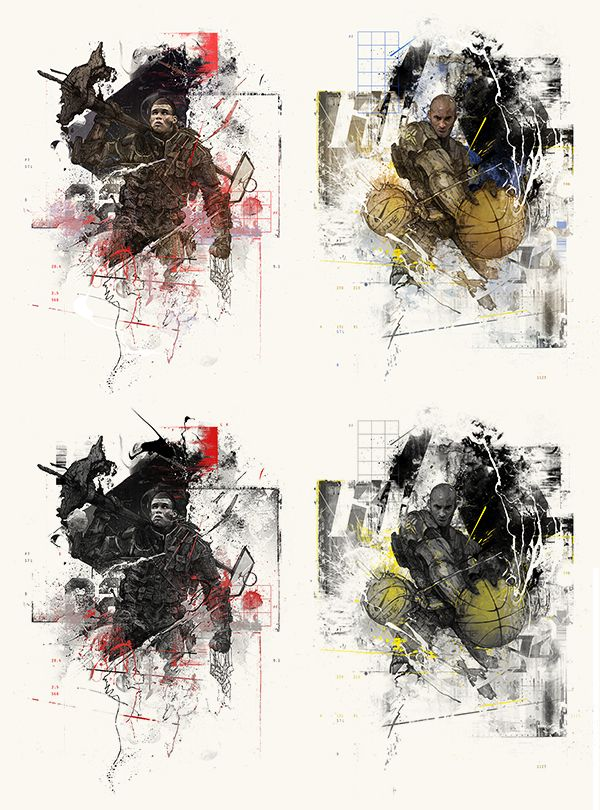 Black Ops by StudioKxx Krzysztof Domaradzki, via Behance - interesting styles
