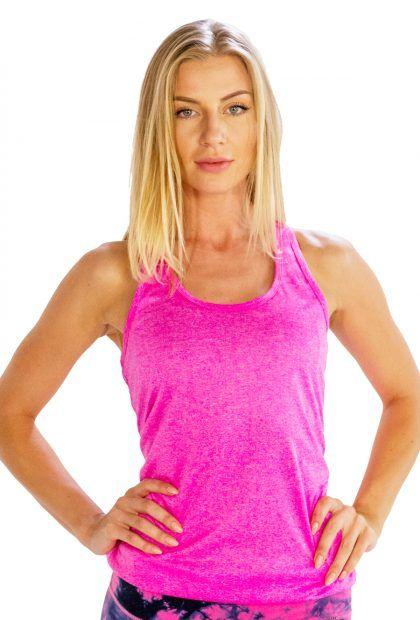 Women's Self-Patterned Bright Pink #Tank #Tee