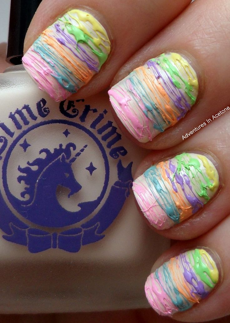 Adventures In Acetone: Lime Crime Spun Sugar Nail Art and Swatches!