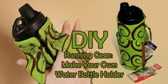 DIY running gear: make your own water bottle holder tutorial | Craftcore