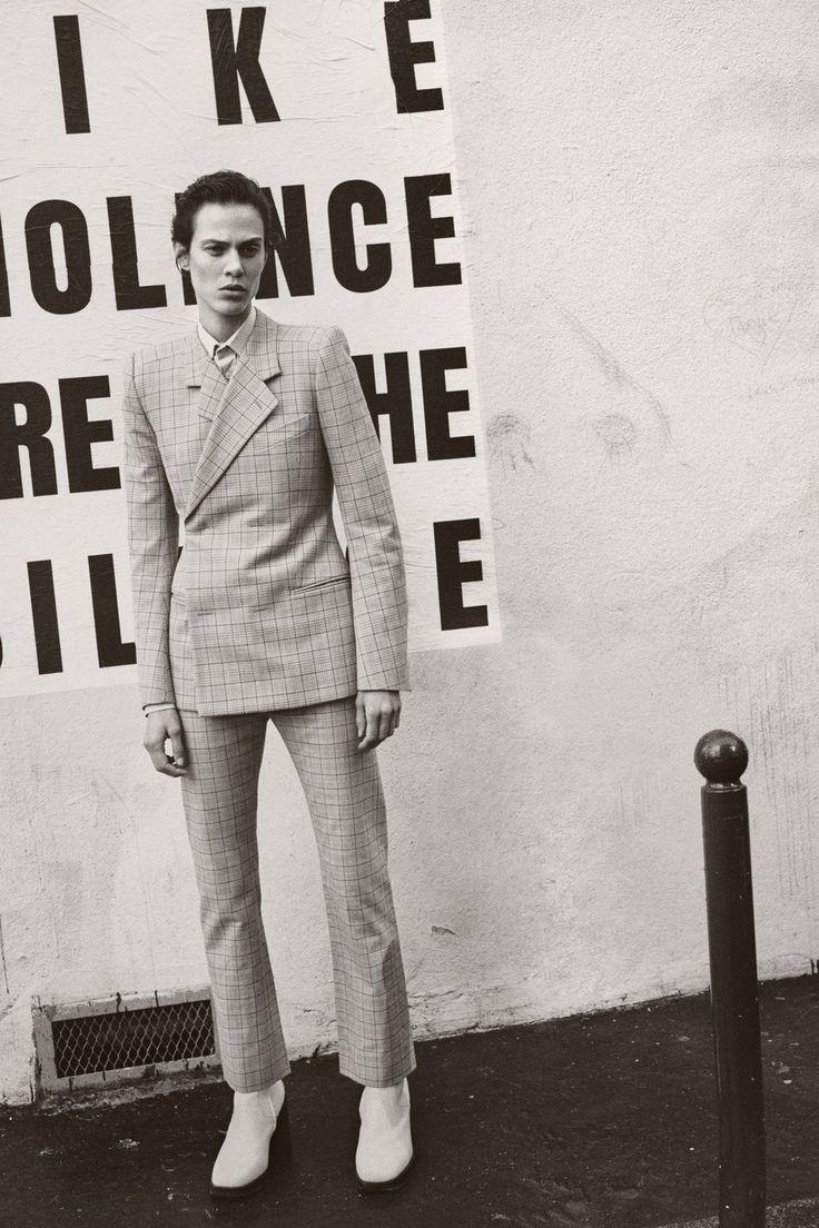 Publication: L'uomo Vogue April 2017 Model: Aymeline Valade Photographer: Scott Trindle Fashion Editor: Michael Philouze