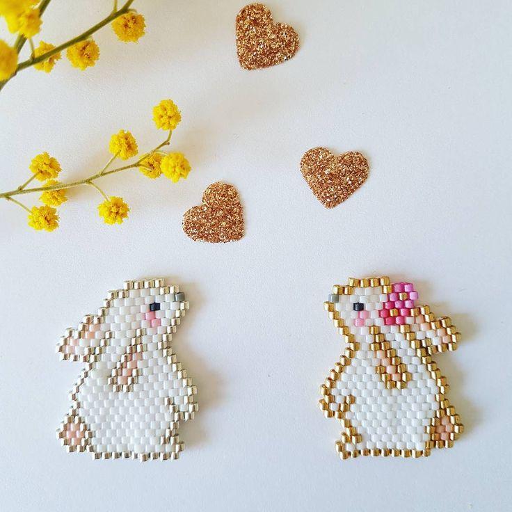 """336 Likes, 12 Comments - Lili (@lili_azalee) on Instagram: """"Love  les jolis lapins réunis !  Et je teste mon  nouveau téléphone !  #jenfiledesperlesetjassume…"""""""