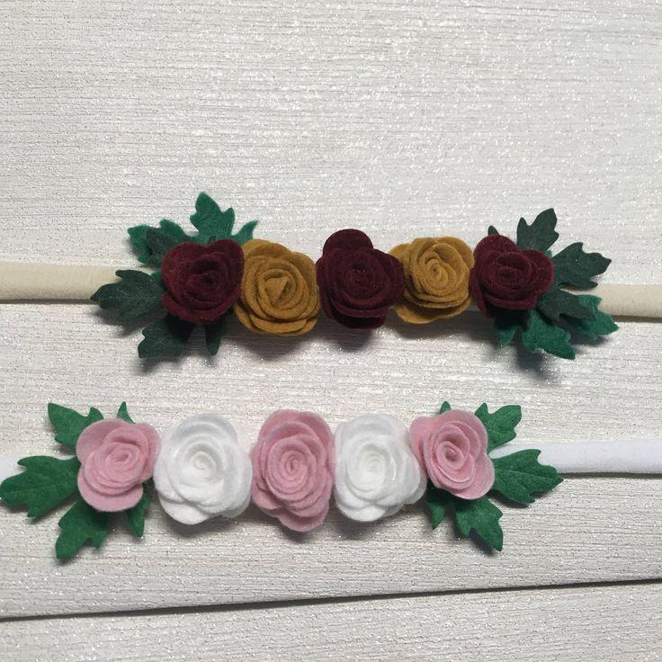Babies Rose Headband, Babies Flower Headband, Flower Crown, Flower Headband, Rose Headband, Baby Headband, Baby Hair Accessories, Hairbow