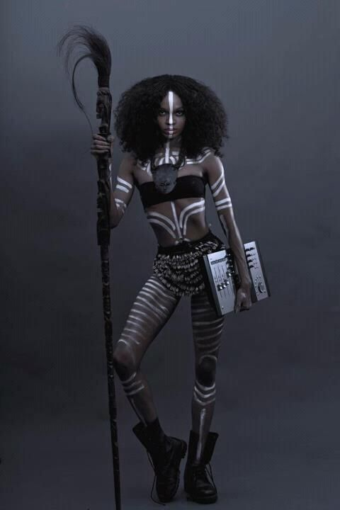 african tribal body paint designs - Google Search