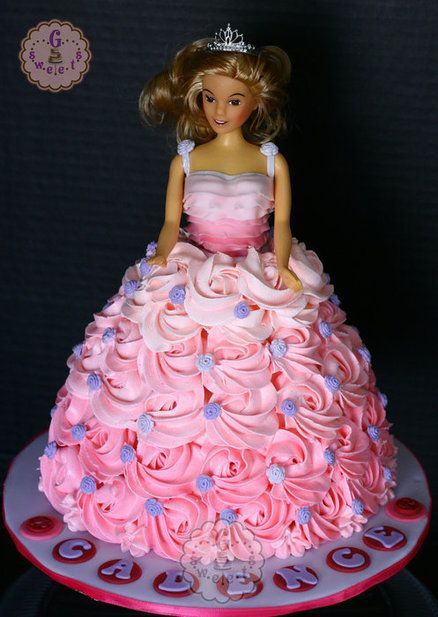 Ombre Barbie Cake Sorry No Recipe Just The Picture Of