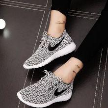 Venda quente novas mulheres ' s sapatos casuais moda respirável sapatos de caminhada estilo Tenis Feminino senhoras planas formadores sapatos baixos mulher(China (Mainland))