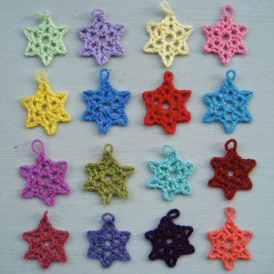 free #crochet pattern - little lacy star ornament