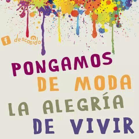 :) PONGAMOS DE MODA LA ALEGRIA DE VIVIR #IMEBA