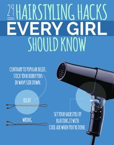 Seriously GREAT hair tips every girl can use.