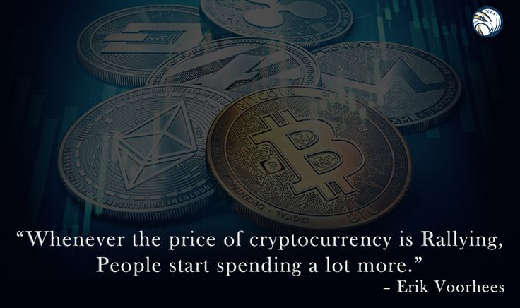 Whenever the #price of #cryptocurrency is rallying, people start spending a lot more. #success