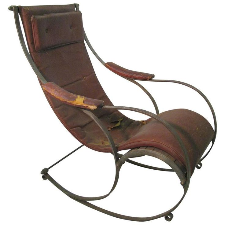 Th Century Campaign Rocking Chair R W Winfield