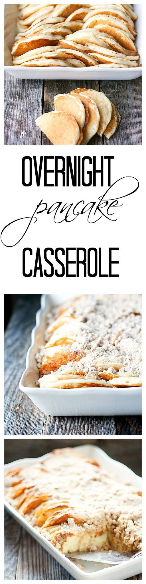 Overnight Pancake Casserole #brunch #holidays
