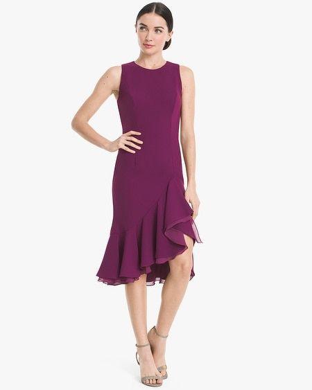 8215d3bd1e6c Flounce-Hem Sheath Dress