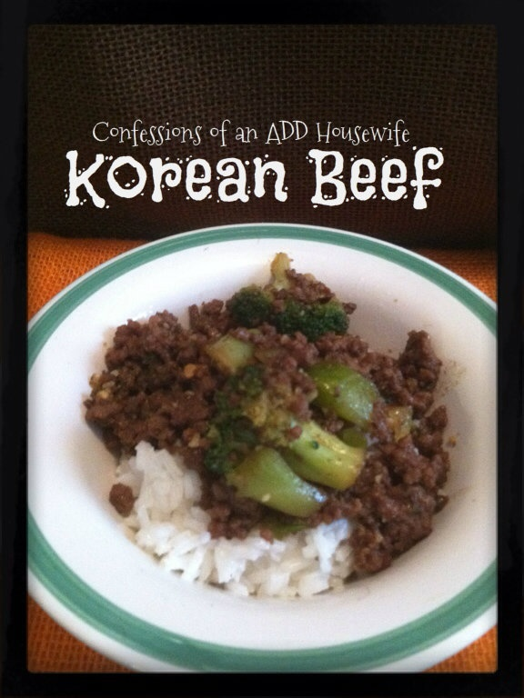 Confessions of an ADD Housewife: Korean Beef Recipe